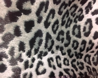 Black cheetah print polyester non stretch