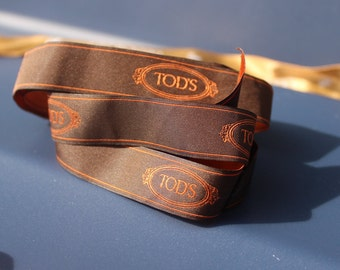 "Tod's authentic Ribbon 5/8"" wide x 20 inches long"