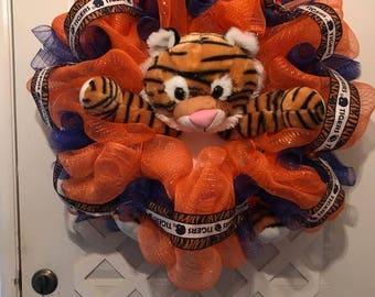 Aubie Door Hanger -  War Eagle Wreath - Auburn Tigers Wreath - War Eagles - Auburn Tigers - SEC - Auburn Collegiate Decor - Dorm Room Decor