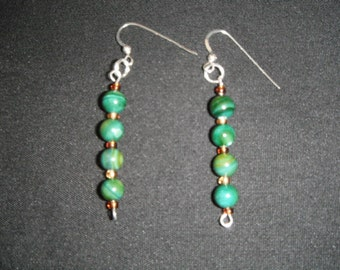 Green River Shell Sterling Silver Earrings