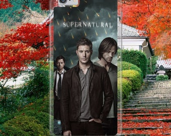 Supernatural Winchester Brothers Sam Dean Castiel Magic Rain Cool Hard Plastic Phone Case Cover For iPhone & Samsung Models Fast Postage