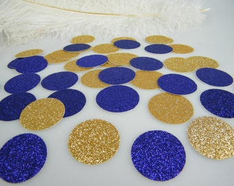Confetti Purple Glitter and Gold  Decorations with optional Purple faux diamonds | Table Scatter | Graduation Confetti | Gold & Purple Party