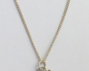 Love Knot Sterling Silver Charm Necklace