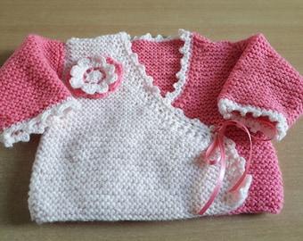Cross-wrap-around type bra - size 0-3 months