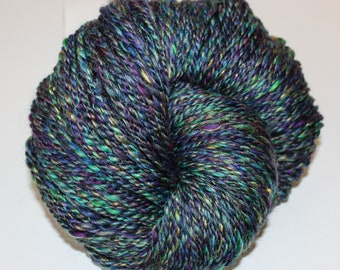 Handspun Yarn, Bulky weight, Merino Silk Blend