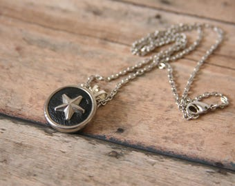Star Necklace Starry Night Pendant Silver Leather - perfect gift for anyone