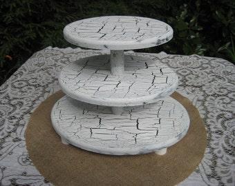 Cupcake Stand, Wedding Cupcake Stand, Wood Cupcake Stand, Oval Cupcake Stand, Shabby Chic Cupcake Stand, Cake Stand, 3 Tier Cupcake Stand