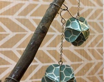 Geometric Paper Earrings
