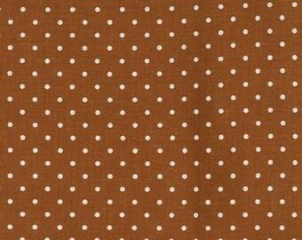 Pinhead Dot (White Dots on Cinnamon Brown Background) by Michael Miller - CX5514-CINN-D
