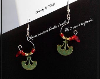 Jewelry designers earrings. No 2 hanging hearts