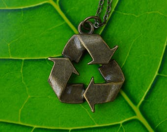 Recycle Symbol Pendant Necklace