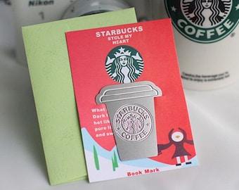DIY Scrapbook Deco Bookmark Starbucks