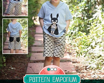 PATTERN Busy Boys Everyday Shorts - PDF Sewing Pattern - Instant Download - Pattern Emporium