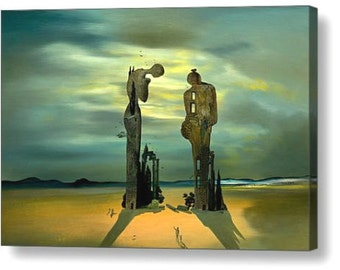 "Salvador Dali ""Reminiscence Archeological"" Repro Canvas Box Art A4, A3, A2, A1"