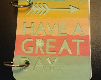 Have a Great Day Junk Journal Smash Journal Scrapbook Photo Album Instax Album Travelers Gratitude Journal