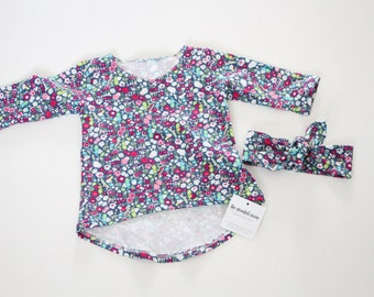 Girls Long Sleeve, Floral, Baby Gifts, Girls Clothing, Baby Clothing, Long Sleeve shirt, Toddler Long Sleeve, Kids Apparel, Baby Apparel