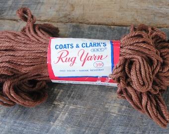 Vintage Coats & Clarks Rug Yarn 130 Brown