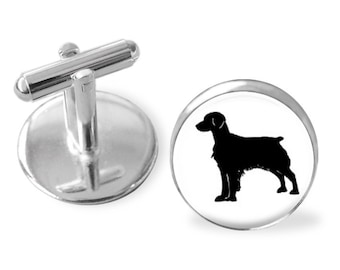 Brittany Dog Breed Portrait Cuff Links or Tie Clip