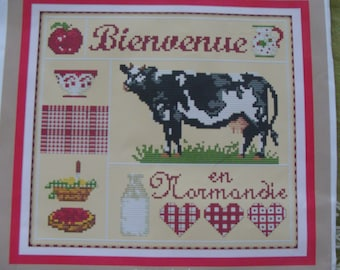 """""""Welcome to Normandy"""" cross - new stitch Embroidery Kit"""