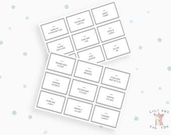 Baby Shower Game - BABY CHARADES - PRINTABLE Monochrome Gender Neutral Design! Black and White! Print it yourself.