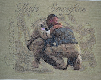 Soldier's Sacrifice - Finished Counted Cross Stitch