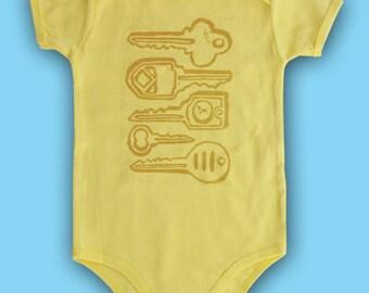 Gold Keys Baby Onesie