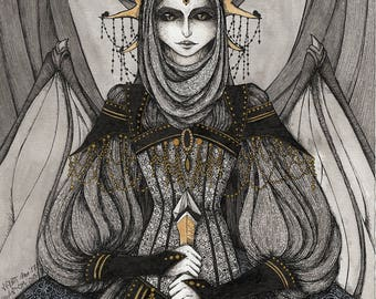 Black Queen - print