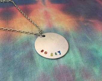 So Gay Rainbow Pride Necklace - Rainbow Pride Necklace - So Gay Jewelry - So Gay Pride Jewelry - Gay Pride Necklace