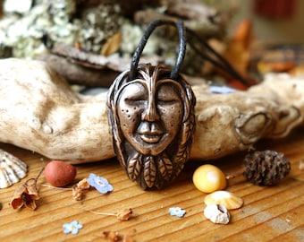 "Macha ""Aurora"" - Guardian of the Forest - Bronze Talisman (Pendant/Amulet)"