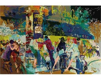 LeRoy Neiman 'LEFT BANK CAFE' Limited Edition Serigraph signed by the artist and numbered in pencil 368/375