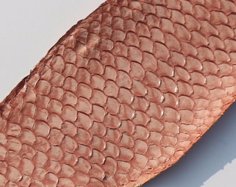 Genuine fish Tilapia leather Pale pink leather skin