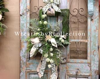 Spring Wreath, Summer Wreath, Everyday Wreath, Moss Wreath