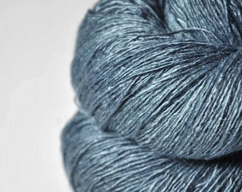Fading storm clouds OOAK - Tussah Silk Lace Yarn