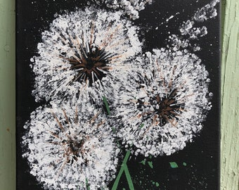 Dandelion Painting, Some See Wishes