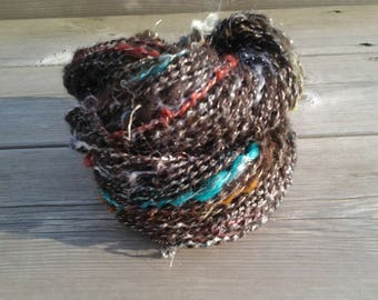 """Brown Rainbow"" hand-spun wool"