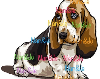 Drawing for Tatto, puppy Basset.