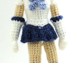 Sailor Mercury (Sailor Moon) - Handmade crochet original design doll