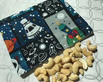 Astronaut Collage Reusable Snack Bag