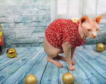FREE shipping, Sphynx Cat Clothes, clothes for cat, sweater for cat, sphynx clothes, handmade