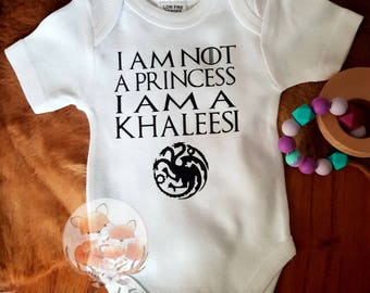 Game of thrones onesie - Khaleesi onesie - mother of dragons onesie- baby onesie - Daenerys Targaryen onesie
