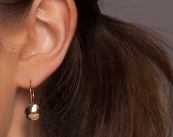 Gold or Silver Dainty Earrings, Gold or Silver Hammered Earrings, Gold or Silver Dome Earrings, Gold or Silver Drop Earrings, Disc Earrings