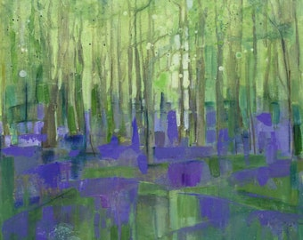 Original painting entitled 'Through the Bluebells'