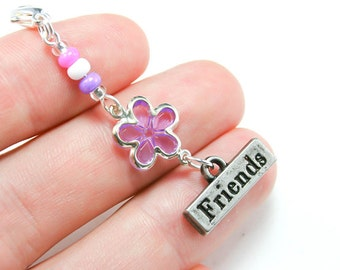 Girls Friendship Jewelry. Friends Flower Party Favor. Girls Birthday Party Favors. Best Friend Charm. BSC059