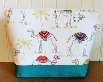 Camel Knitting Project Bag
