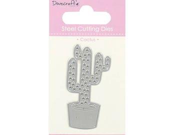 Die die cutout in the shape of cactus in pot still 7cm