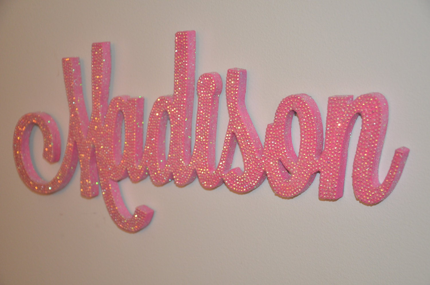 Name Wall Letters 18 Inch Rhinestone Name Plaque Bling Decorative Wall Letters