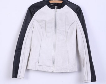 WILSONS LEATHER Womens M Leather Jacket Ramones Biker