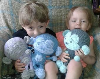 crochet monkey plush toy - choose your colors