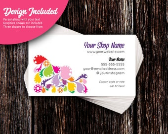 Business Cards - Custom Business Cards - Personalized Business Cards - Mommy Calling Cards - Splash of Color