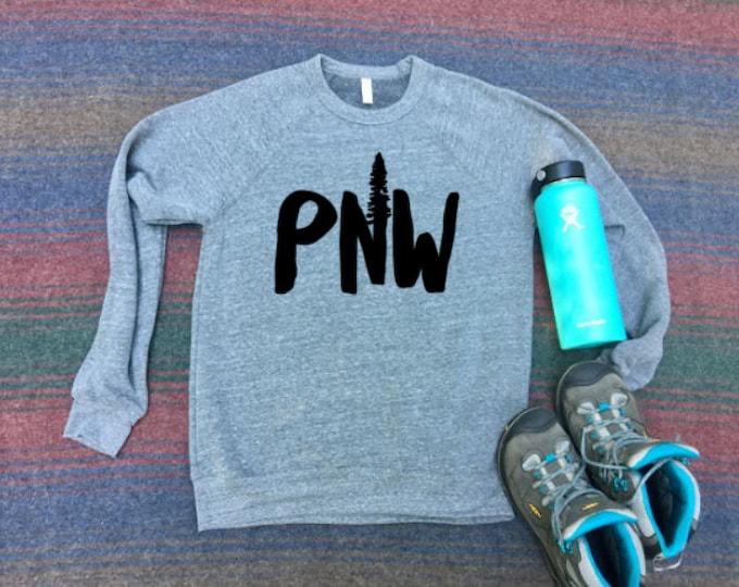 GRAY PNW Sweatshirt- Christmas Gift for Her- Christmas Gift for Him- Christmas Gift for Man- Christmas Gift for Woman- PNW Christmas Gift